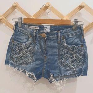 Sass & Bide Weave Denim Shorts